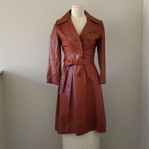 Vintage Leather coat Xs